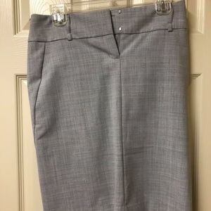 Express Light Gray Pencil Skirt, 2, Leopard lining